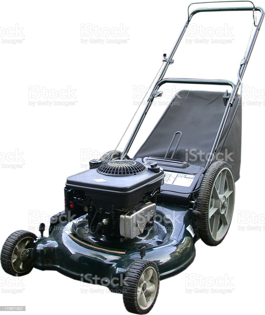 Lawnmower with Grass Catcher royalty-free stock photo