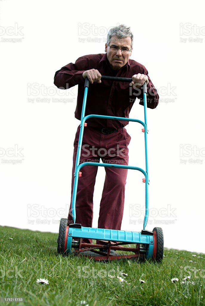Lawnmowerman stock photo