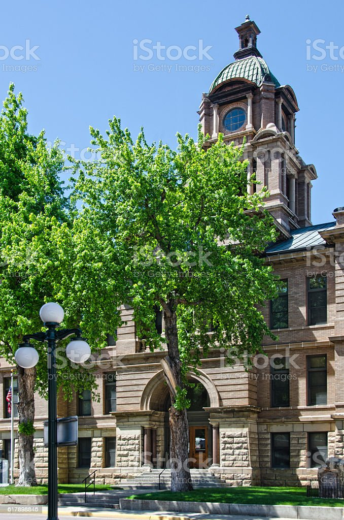 Lawrence County Courthouse in Deadwood, South Dakota stock photo