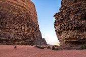 Lawrence of Arabia valley in Wadi Rum desert, Jordan