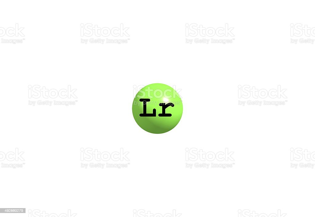 Lawrencium molecular structure on white background royalty-free stock photo