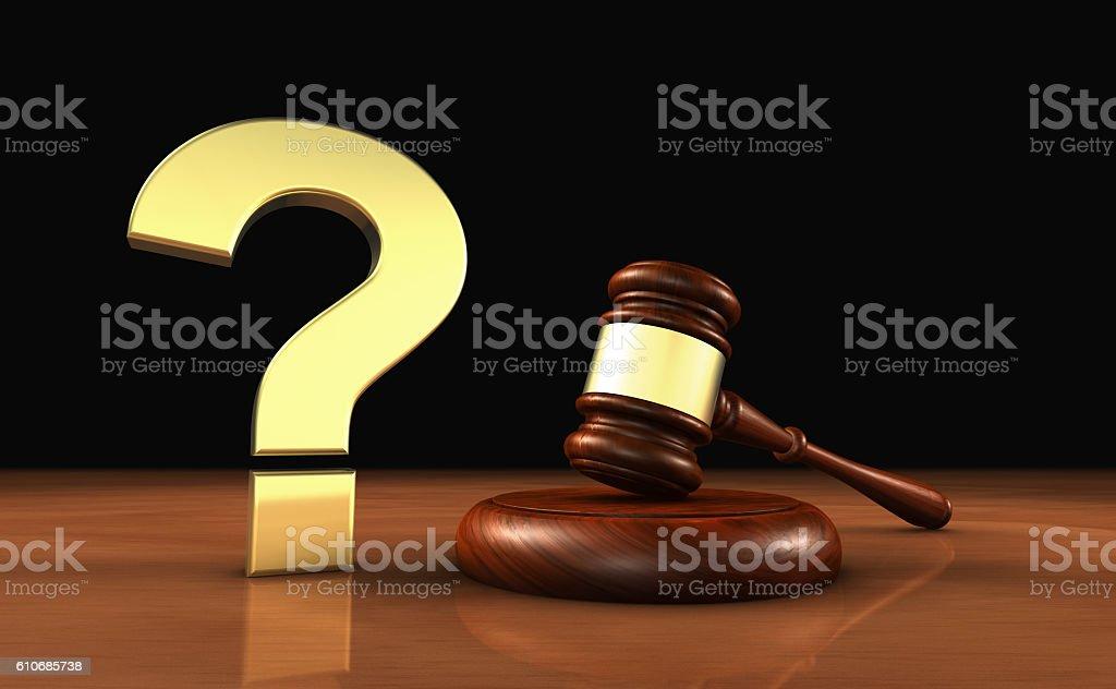 Laws Legal Questions Symbol Concept stock photo
