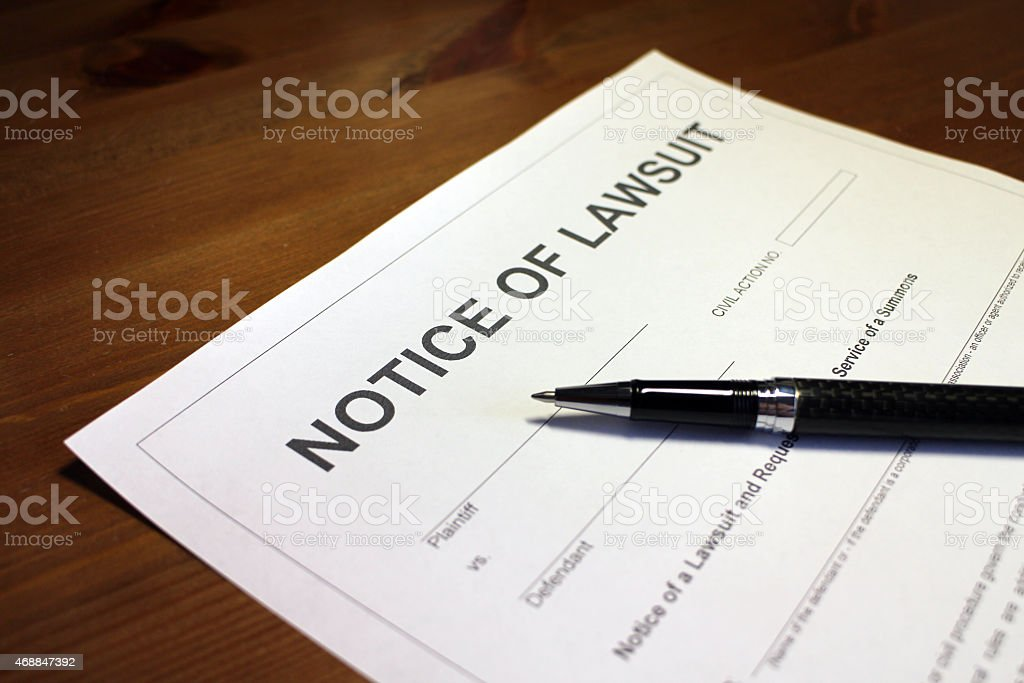 Lawsuit Document stock photo
