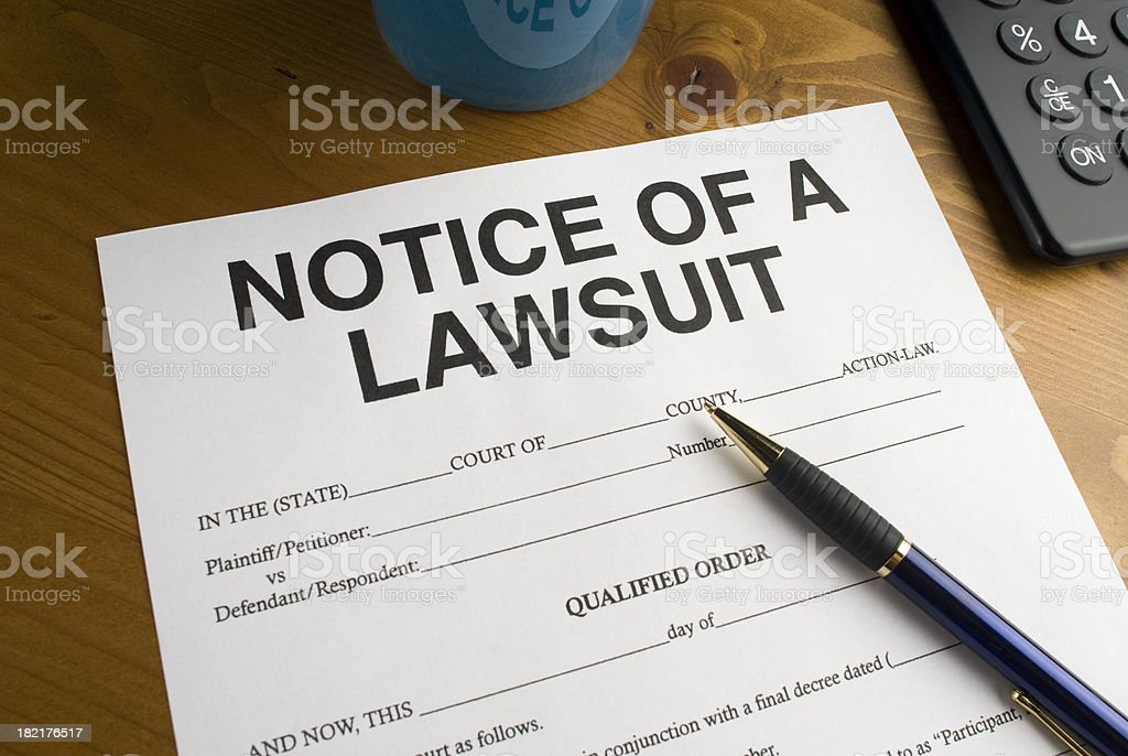 Lawsuit Hearing royalty-free stock photo