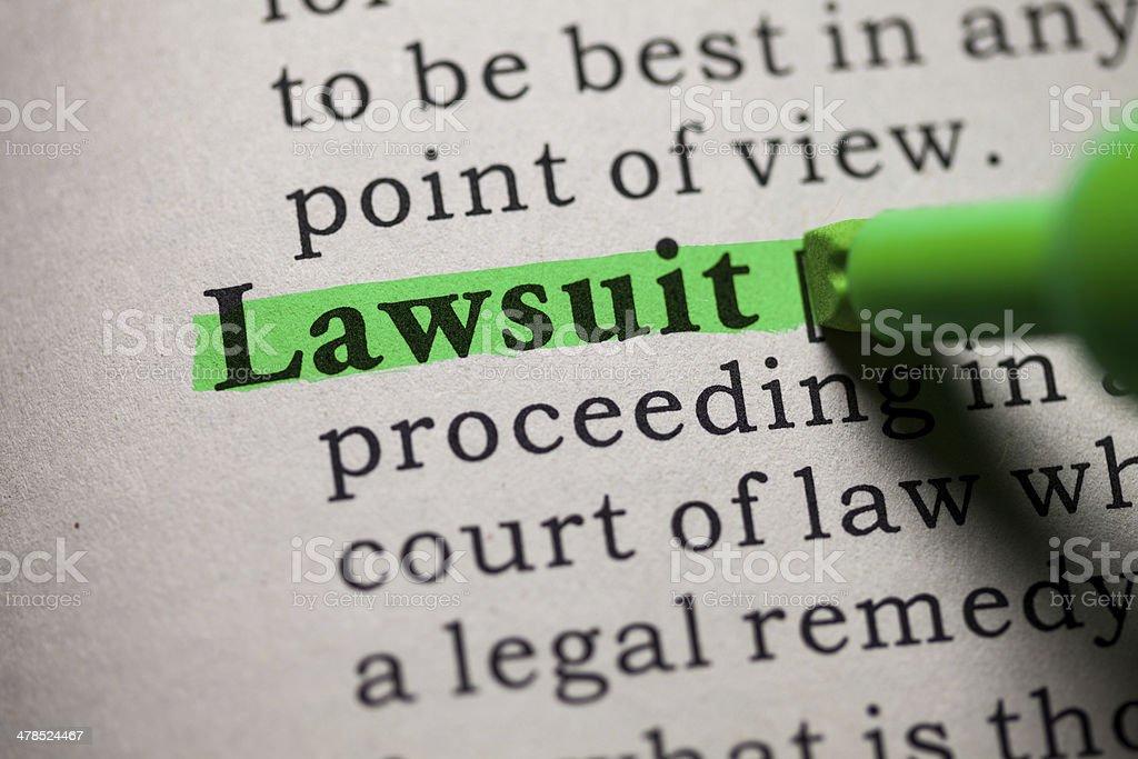 lawsuit stock photo
