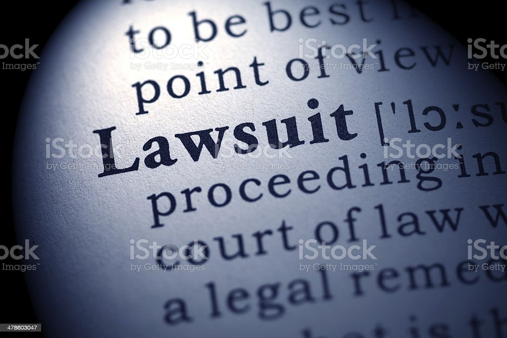 lawsuit stock photo