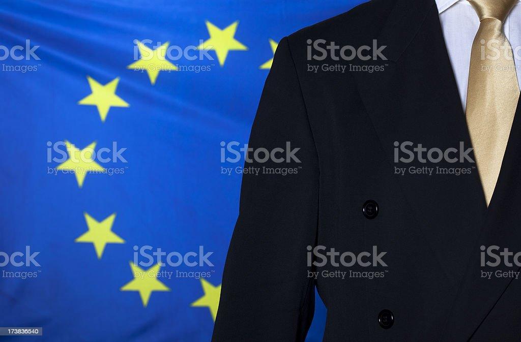 Lawyer against EU flag royalty-free stock photo