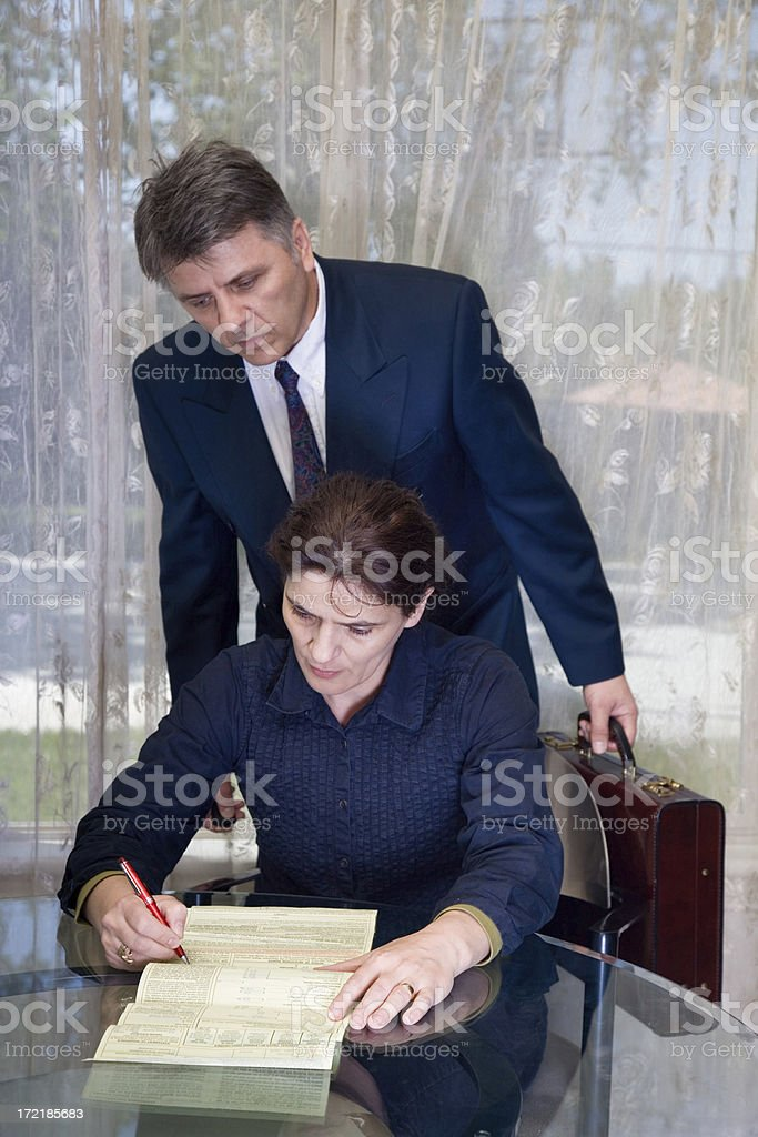 Lawyer Behind You royalty-free stock photo