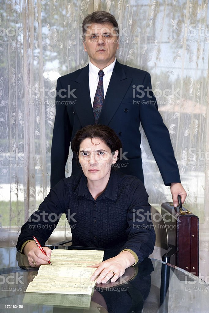 Lawyer Covers Your Back royalty-free stock photo