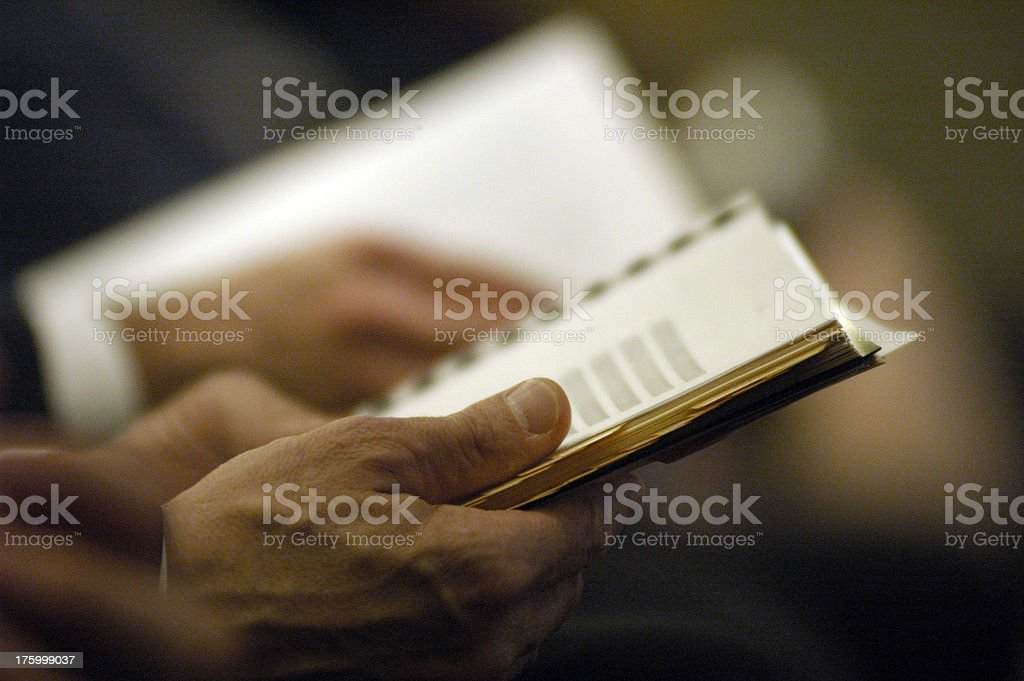 Lawyer holding a script stock photo