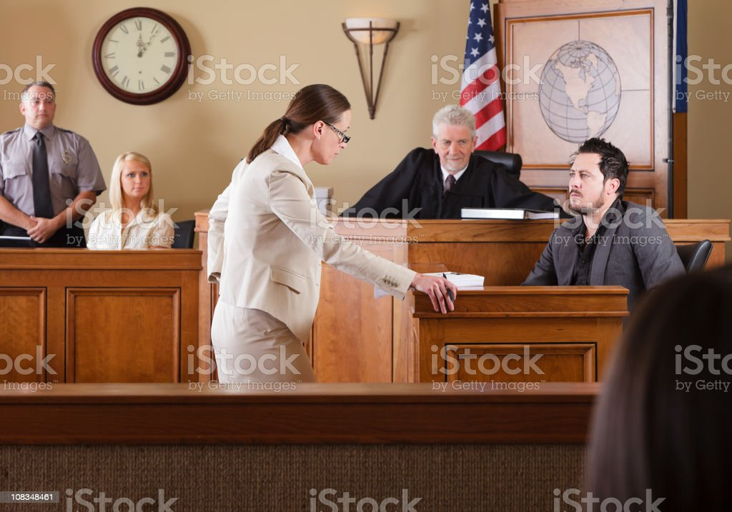 Lawyer in a Courtroom royalty-free stock photo
