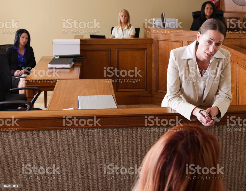 Lawyer in Court stock photo