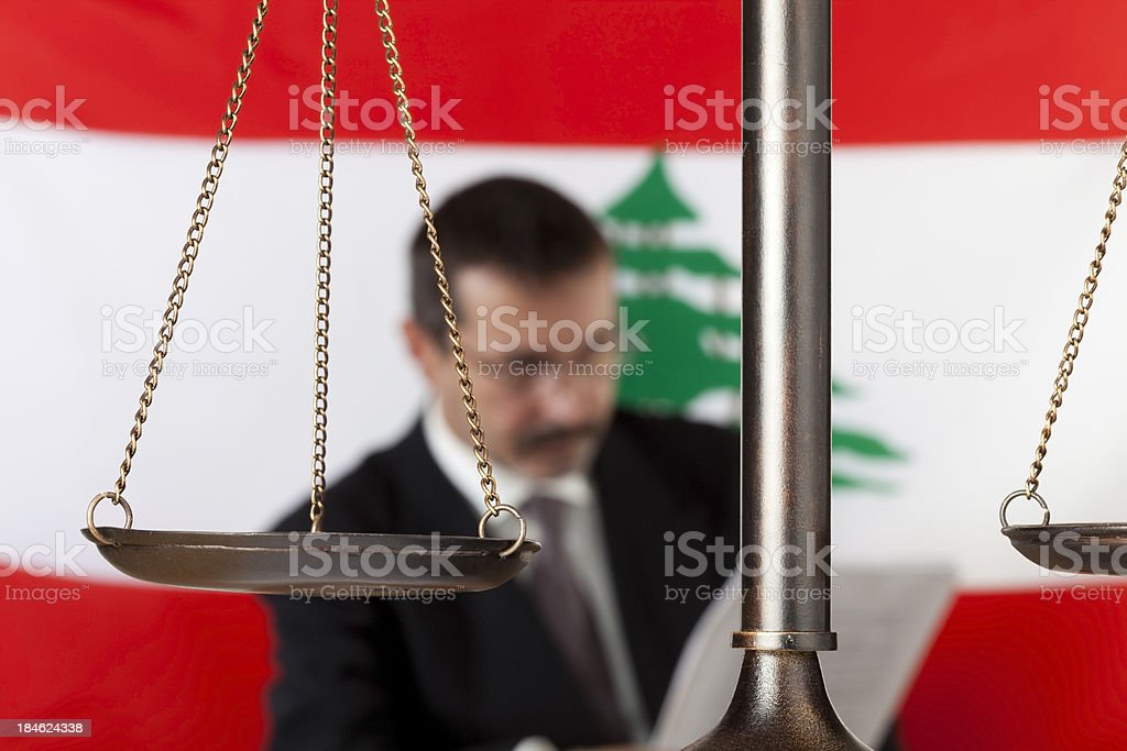 Lawyer in Lebanon royalty-free stock photo