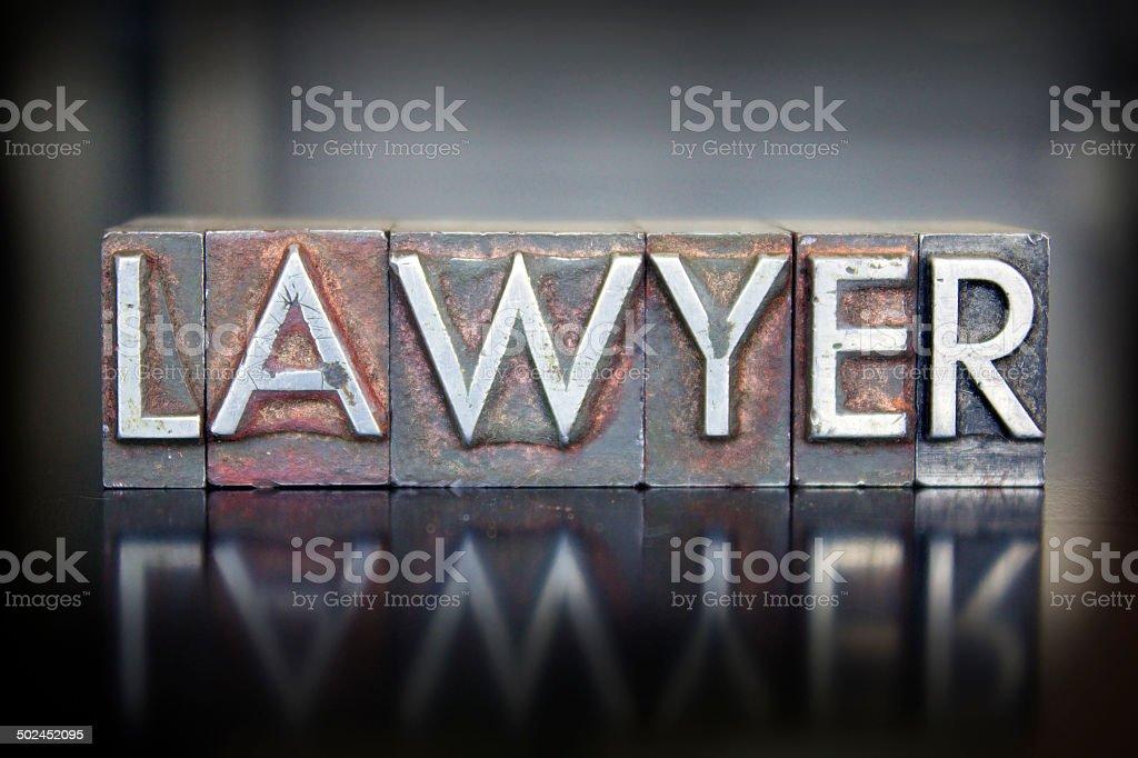 Lawyer Letterpress stock photo