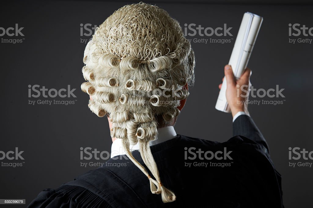 Lawyer Making Speech In Court stock photo
