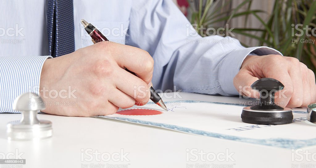 Lawyer, notary royalty-free stock photo