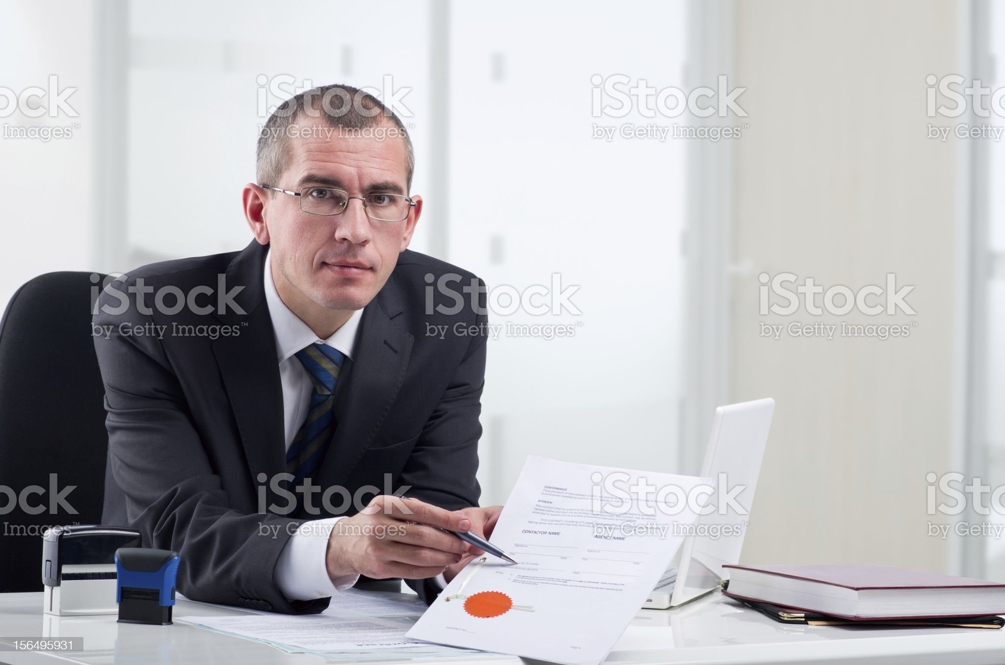Lawyer on his workplace royalty-free stock photo