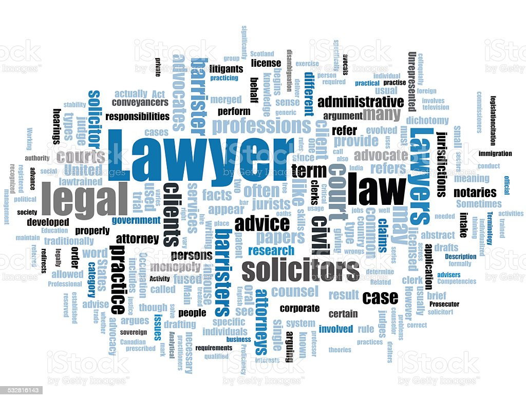 Lawyer stock photo