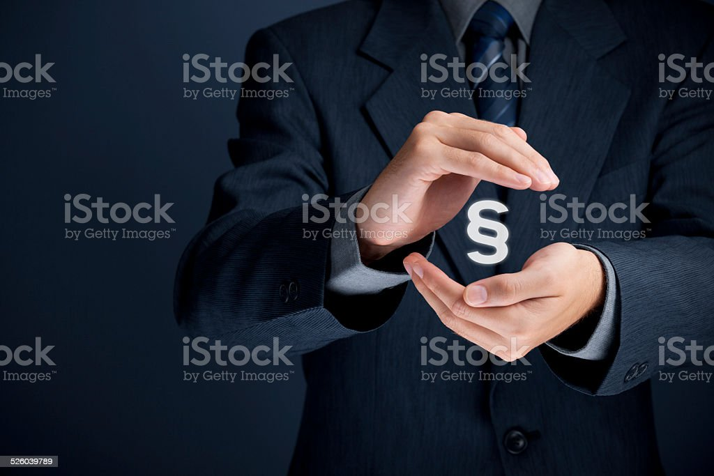 Lawyer protect rights stock photo