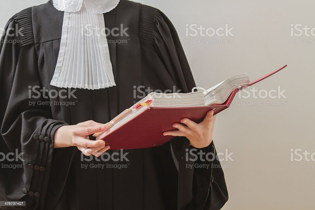 Lawyer reading stock photo