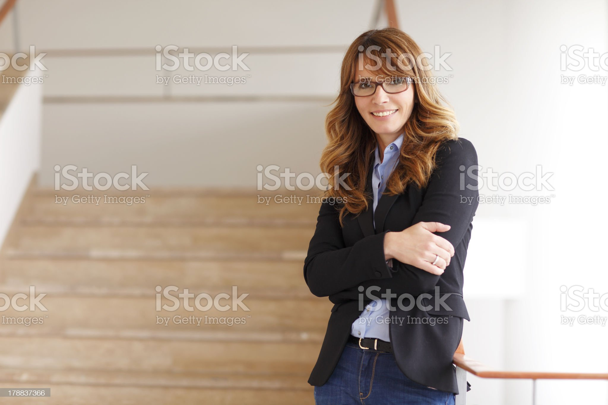 Lawyer Stands in Courthouse royalty-free stock photo