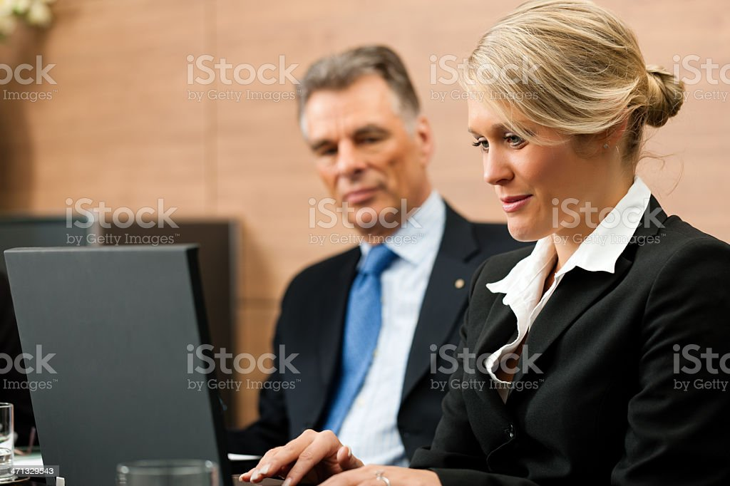 Lawyer with his secretary royalty-free stock photo