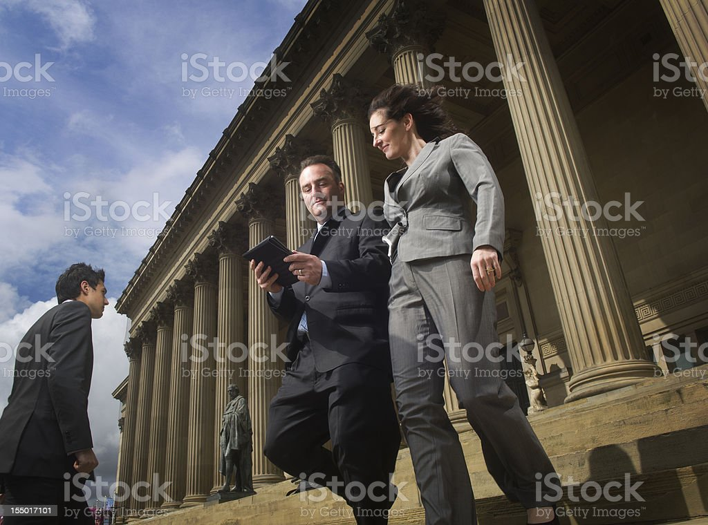 lawyers at courthouse stock photo