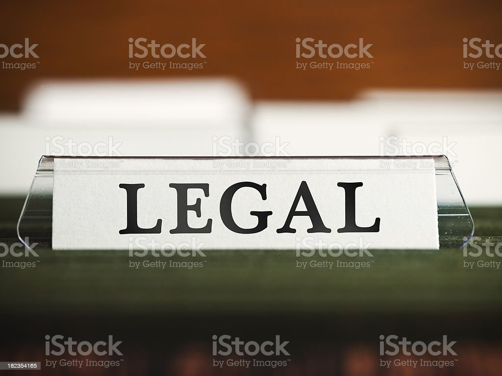 Lawyers file in a filing cabinet royalty-free stock photo