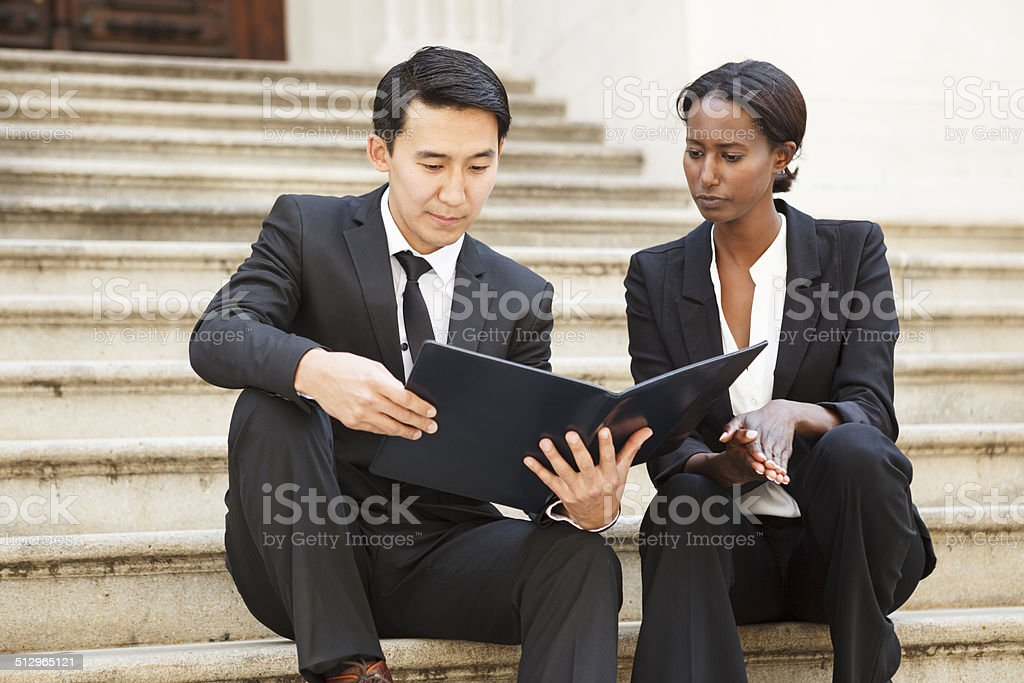Lawyers on Steps stock photo