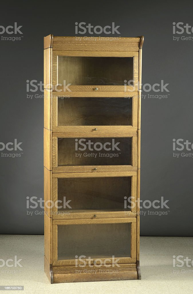 Lawyer's Stacking Bookcase, Late 19th Century royalty-free stock photo