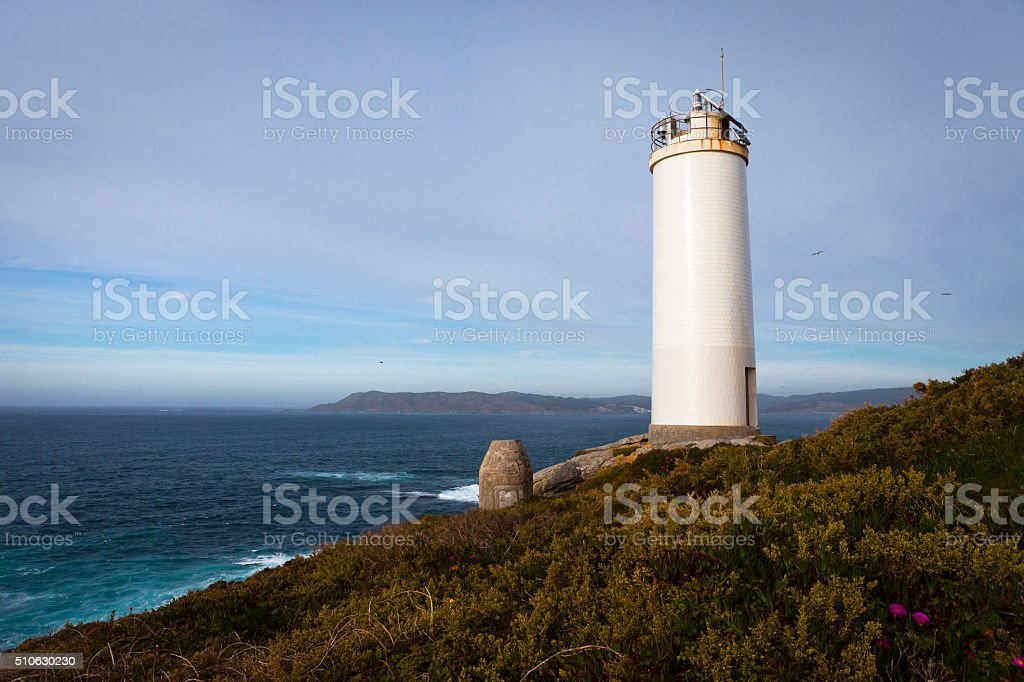 Laxe lighthouse stock photo