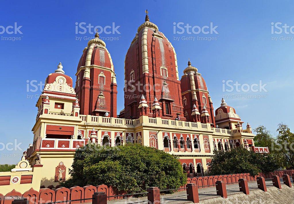 Laxmi Narayan temple stock photo