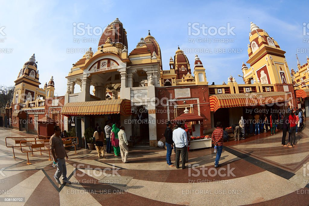 Laxminarayan Temple in Delhi stock photo