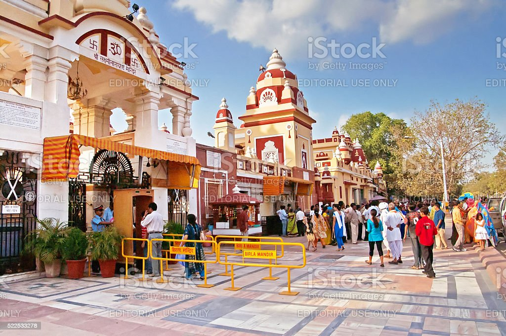 Laxminarayan Temple is a temple in Delhi, India stock photo