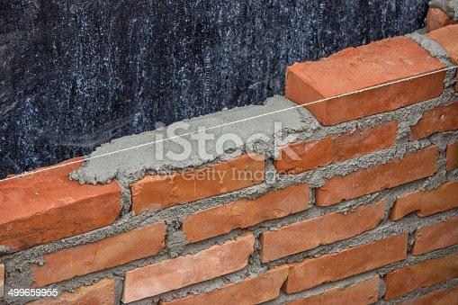 Lay Brick Wall Building Brick Wall 2 stock photo 499659955 | iStock
