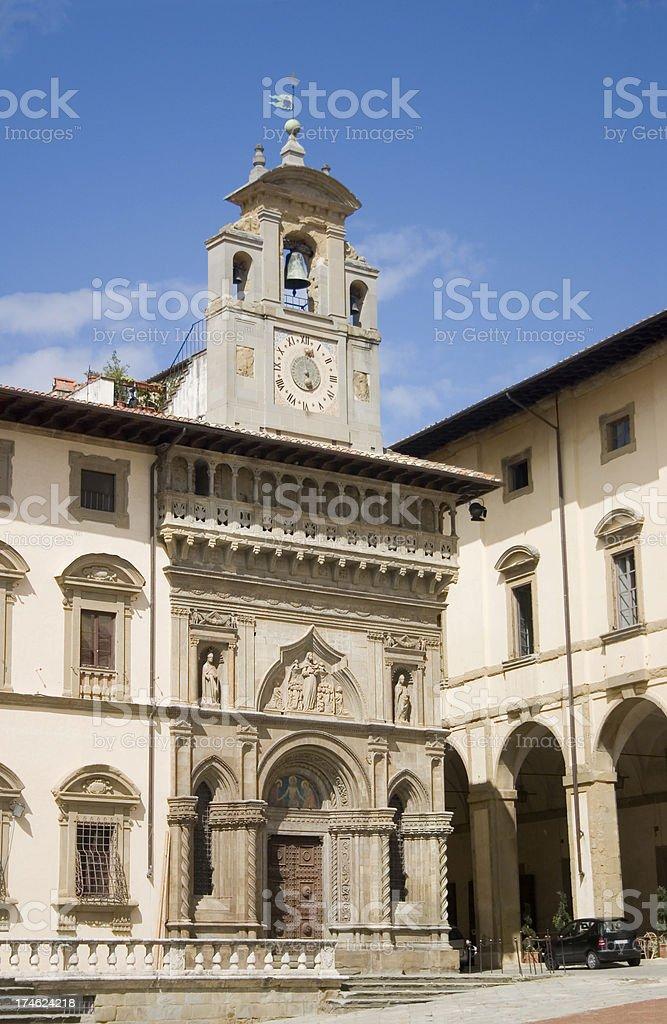 Lay Fraternity Palace Arezzo royalty-free stock photo