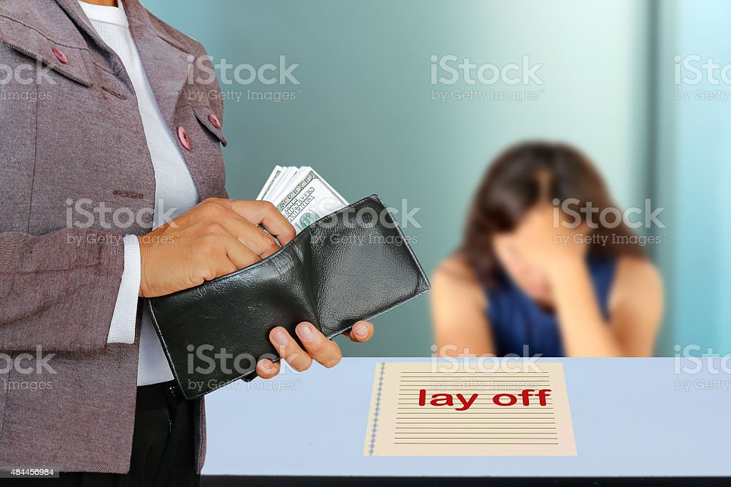 lay off stock photo