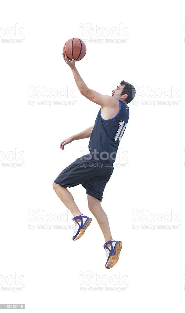 lay up on white stock photo