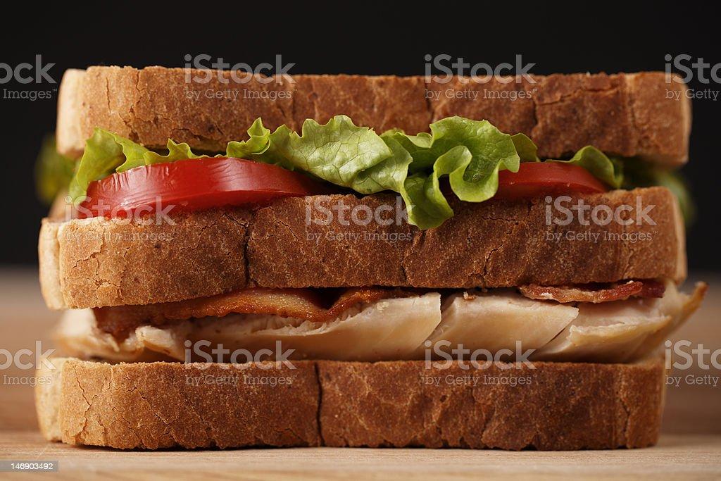layer chicken club sandwich royalty-free stock photo