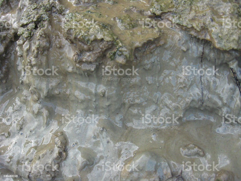 Layer of a dirt and mudflow stock photo