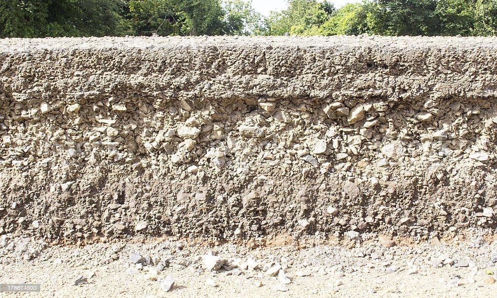 Layer of asphalt road royalty-free stock photo