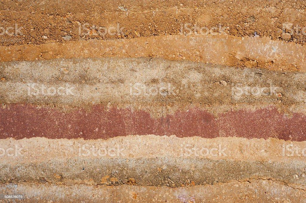 Layer of soil stock photo