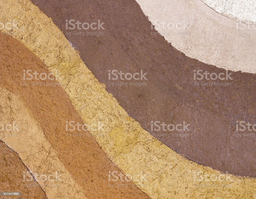 Layer of soil underground for background texture stock photo