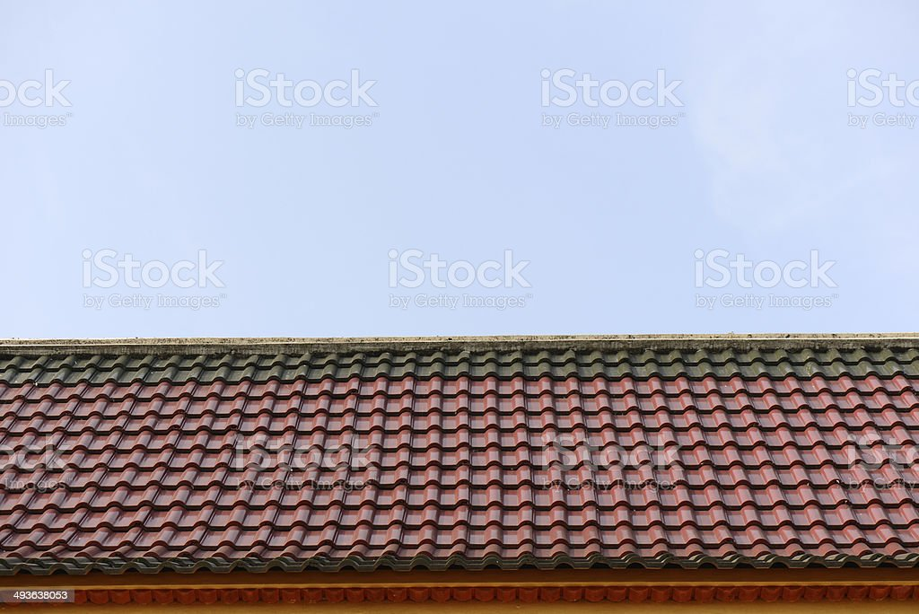 Layer roof tiles of Thai temple royalty-free stock photo