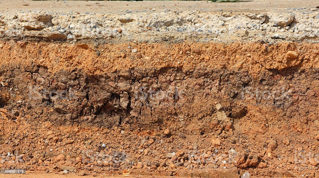 layer soil stock photo