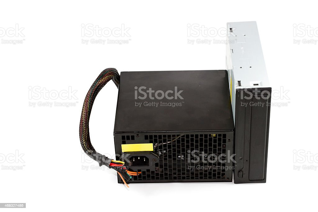 DVD Layer with Defect Computer Power Supply stock photo