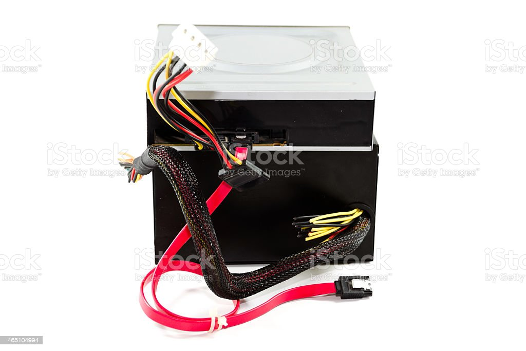 DVD Layer with Defect Power Supply stock photo