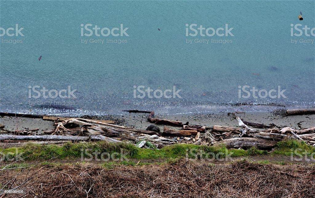 Layered Beach stock photo
