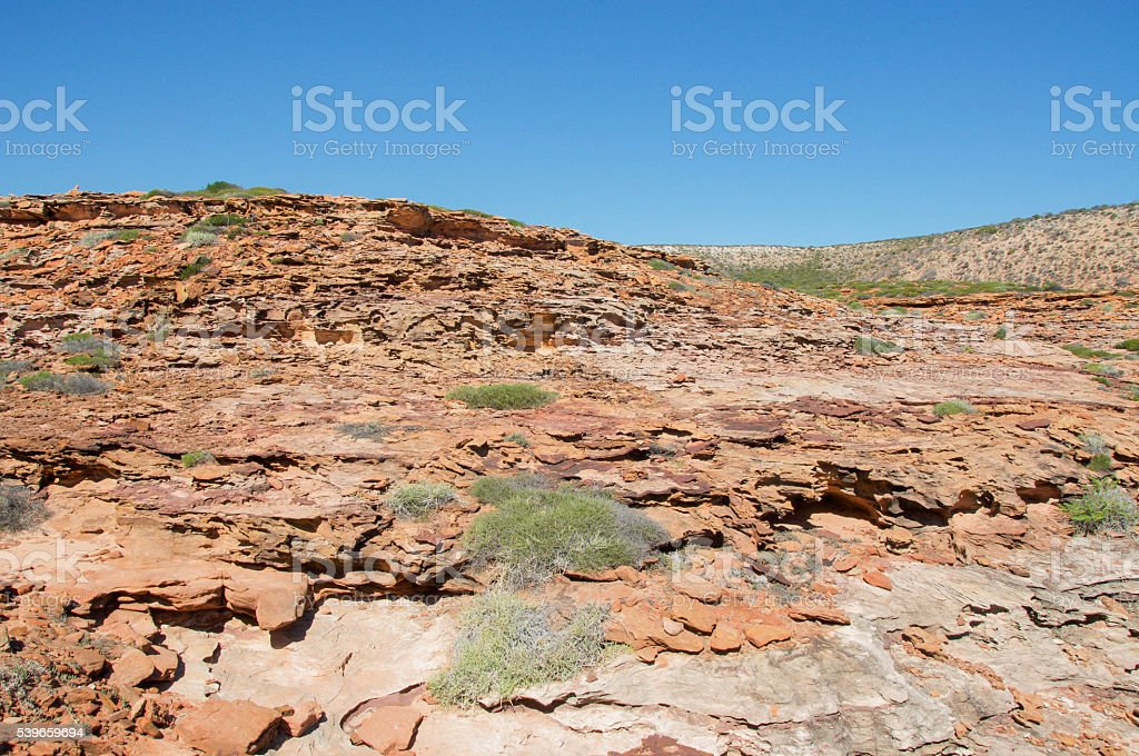 Layered Bluff stock photo