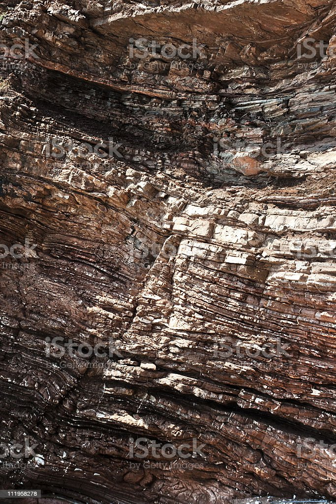 Layered cliff geology royalty-free stock photo